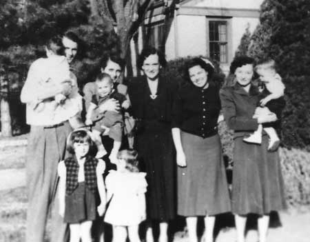 Clarkson Family Gathering, about 1952.
